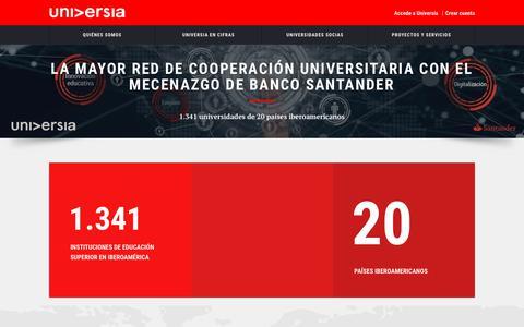 Screenshot of Home Page universia.net - Universia.net - captured Nov. 7, 2018