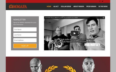 Screenshot of Home Page mmafa.tv - Home - MMAFA - captured Dec. 15, 2015
