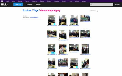 "Screenshot of Flickr Page flickr.com - Flickr: ""democampcalgary"" - captured Oct. 23, 2014"
