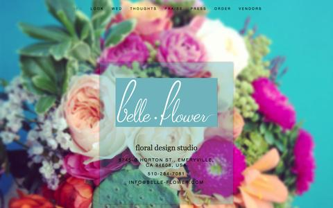 Screenshot of Home Page belle-flower.com - belle-flower - captured Jan. 27, 2015