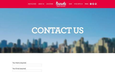 Screenshot of Contact Page brewlabars.com - Contact Us | Brewla - captured Oct. 11, 2017
