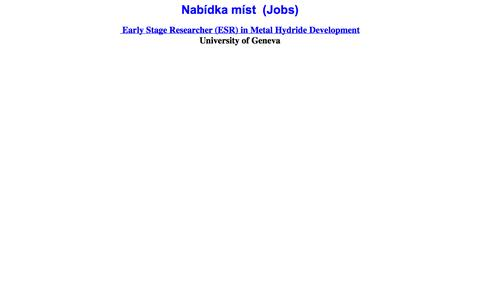 Screenshot of Jobs Page xray.cz - Nabídka míst - captured Oct. 3, 2014
