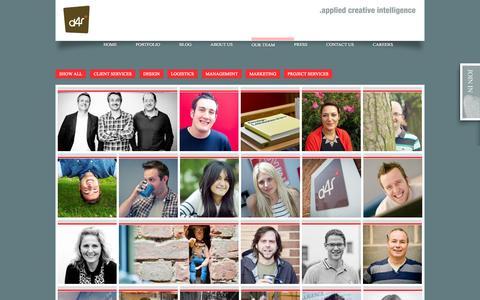 Screenshot of Team Page design4retail.co.uk - Visit Us & Meet The Creative Retail Design Team   D4R - captured Sept. 22, 2014