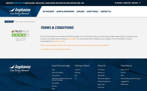 Screenshot of Terms Page inghams.co.uk - Terms & Conditions Ski, Santa Breaks, Lakes & Mountains | Inghams - captured Dec. 28, 2017