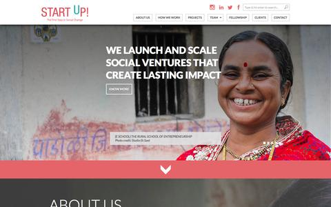 Screenshot of Home Page startup-india.org - Start Up! - captured Aug. 4, 2015