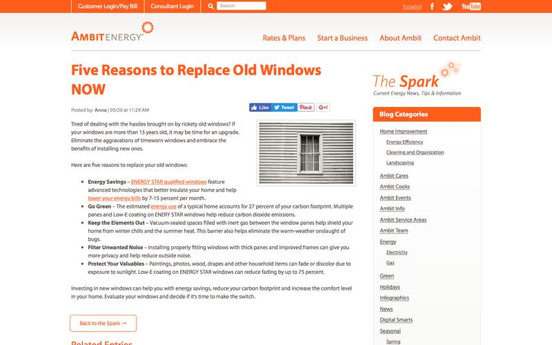 Five Reasons to Replace Old Windows NOW | Ambit Energy