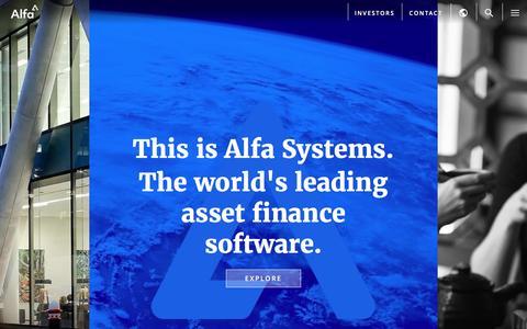 Screenshot of Home Page alfasystems.com - Alfa - captured May 11, 2017