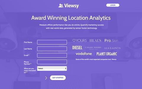 Screenshot of Home Page viewsy.com captured Nov. 1, 2017