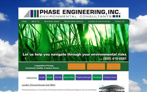 Screenshot of Developers Page phaseengineering.com - Industries   Phase Engineering - captured July 30, 2017