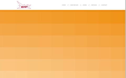 Screenshot of Home Page zapwebworks.com - Zap Web Works :: Your Partner For Awesome Digital + Creative - captured Sept. 30, 2014