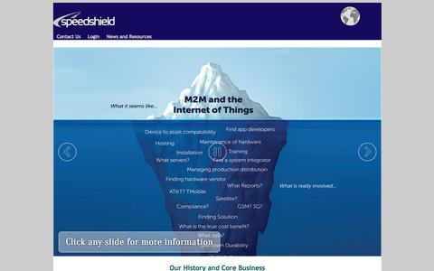 Screenshot of Home Page speedshield.net - Speedshield - captured Aug. 17, 2015