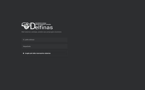 """Screenshot of Login Page delfin.lt - Biudžetinė įstaiga Šiaulių plaukimo mokykla """"Delfinas"""" - Login - captured Nov. 24, 2018"""