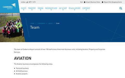 Screenshot of Team Page canberraairport.com.au - Team - Canberra Airport - captured Nov. 4, 2018