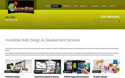 Screenshot of Services Page iwdwebsite.com - Our Web Design & Development Services in Cyprus - captured Oct. 6, 2014