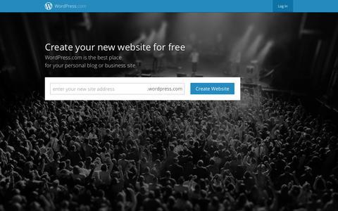 Screenshot of Home Page wordpress.com - WordPress.com - Get a Free Website and Blog Here - captured Sept. 12, 2014