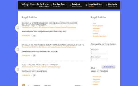 Screenshot of Blog bljlaw.co.uk - Bishop, Lloyd & Jackson Solicitors | - captured Oct. 5, 2014