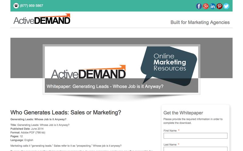 Resources - Whitepaper - Who Generates Leads
