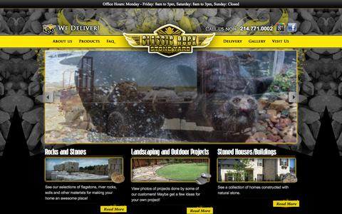 Screenshot of Home Page classicrockinc.com - Classic Rock Stone Yard, Rockwall, Texas - Rocks With A Touch of Class - captured Sept. 29, 2014