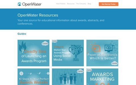 Screenshot of Case Studies Page getopenwater.com - Resources | OpenWater - captured Sept. 19, 2014