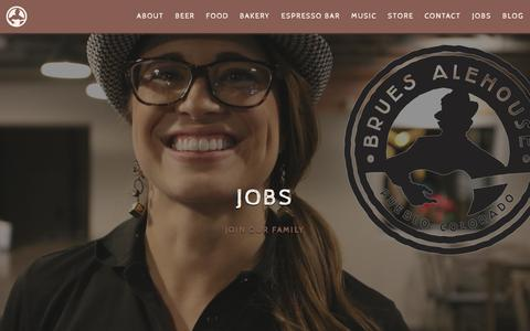 Screenshot of Jobs Page bruesalehouse.com - Jobs | Brues Alehouse Brewing Co. - captured Feb. 8, 2016