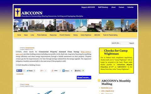 Screenshot of Press Page abcconn.org - News - captured Oct. 8, 2014