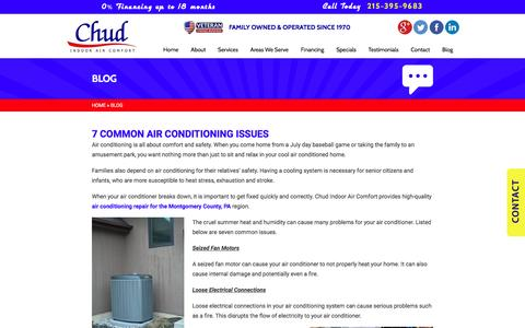 Screenshot of Blog chudcompany.com - Blog | Chud Indoor Air Comfort | www.chudcompany.com - captured Nov. 5, 2016