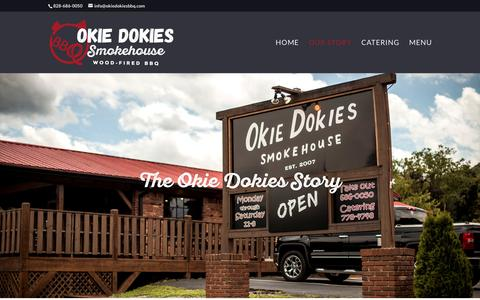 Screenshot of About Page okiedokiesbbq.com - About | Okie Dokies Smokehouse, North Carolina Barbeque - captured April 22, 2017