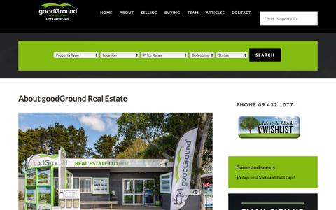Screenshot of About Page goodground.com - goodGround Real Estate for property sales - captured Feb. 2, 2016