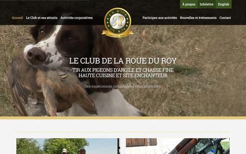 Screenshot of Home Page roueduroy.com - Club de tir de la Roue du Roy, tir au pigeon d'argile (balltrap) - captured Feb. 13, 2016