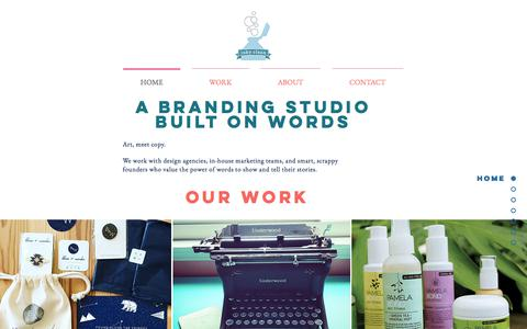 Screenshot of Home Page inkyclean.com - Copywriting and Branding for Creative and Mission-Driven Brands - captured Sept. 16, 2018