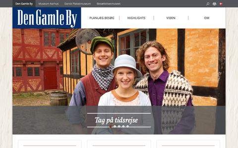Screenshot of Home Page dengamleby.dk - Den Gamle By - Den Gamle By - captured Aug. 6, 2018