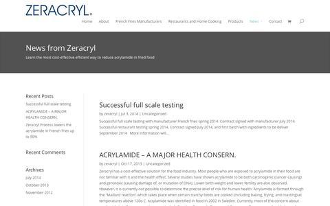 Screenshot of Press Page zeracryl.com - News – Zeracryl AS - captured Dec. 19, 2016