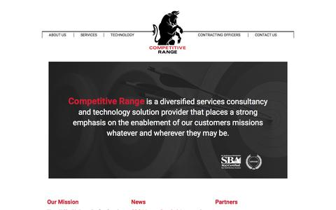 Screenshot of Home Page getcrs.com - Competitive Range | Home - captured Jan. 23, 2015