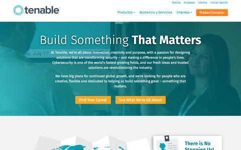 Screenshot of Jobs Page tenable.com - Empleos | Tenable Network Security - captured March 7, 2017