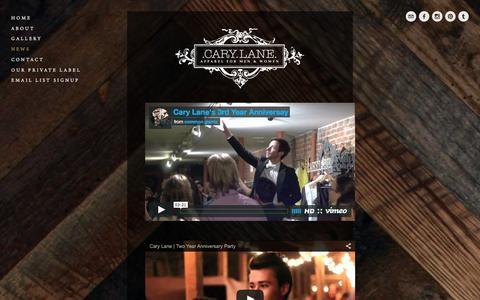 Screenshot of Press Page carylanesf.com - Press — Cary Lane - captured Jan. 26, 2016