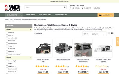 Jeep Windjammer Top | {OnSale} Jeep Windjammers for Wrangler at 4WD.com