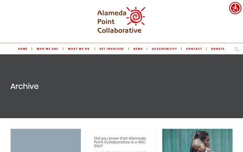 Screenshot of Press Page apcollaborative.org - News - Alameda Point Collaborative - captured Oct. 3, 2018