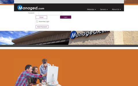 Screenshot of Login Page managed.com - User Log In - captured Nov. 4, 2014