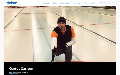 Screenshot of Team Page slalom.com - Garret Carlson | Slalom - captured Jan. 20, 2018
