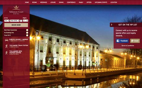 Screenshot of Services Page tullamorecourthotel.ie - Hotel Services - Tullamore Court Hotel - captured Feb. 16, 2016
