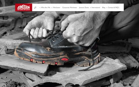 Screenshot of Home Page jonssonworkwear.com - Jonsson Workwear - workwear uniform solutions for men and woman Jonsson Workwear - captured Oct. 6, 2014