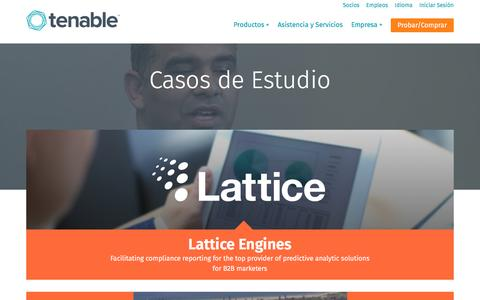 Screenshot of Case Studies Page tenable.com - Casos de Estudio | Tenable Network Security - captured March 7, 2017