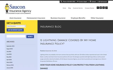 Screenshot of Blog sauconinsurance.com - Insurance Blog | Saucon Insurance Agency | - captured Oct. 2, 2018