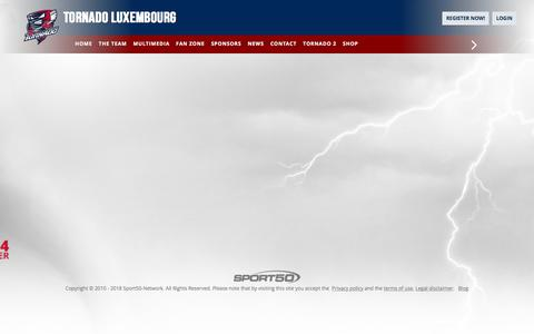 Screenshot of Team Page tornadoluxembourg.com - Tornado Luxembourg - THE TEAM - captured Feb. 21, 2018