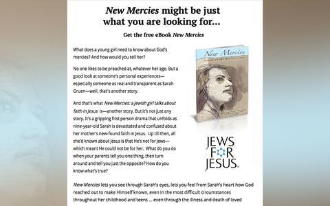 Screenshot of Landing Page jewsforjesus.org - Jews for Jesus - New Mercies E-book Offer - captured Oct. 25, 2016