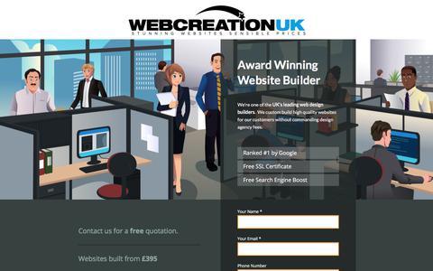 Screenshot of Landing Page webcreationuk.co.uk - Website Builder - Sites Built from £395 - captured July 2, 2017