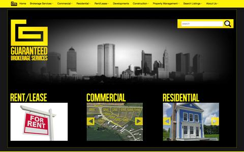 Screenshot of Home Page guaranteedcompanies.com - Guaranteed - captured Sept. 26, 2014