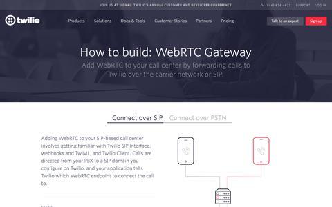 Screenshot of Case Studies Page twilio.com - Build WebRTC Gateway - Twilio - captured Nov. 28, 2019