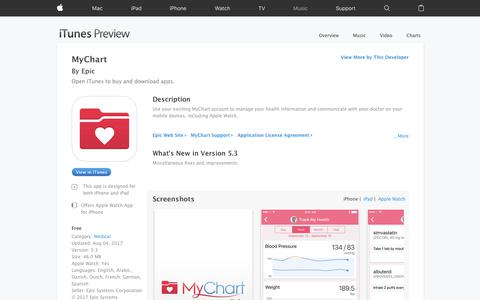 MyChart on the App Store