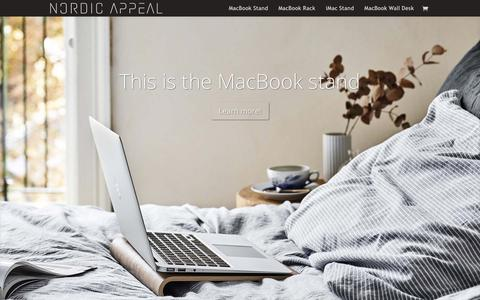 Screenshot of Home Page nordicappeal.com - Nordic Appeal - Beautiful accessories for your Apple Mac - captured Oct. 25, 2016